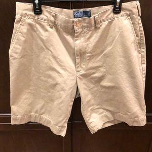 Men's Khaki Chino Shorts Polo Ralph Lauren Size 35